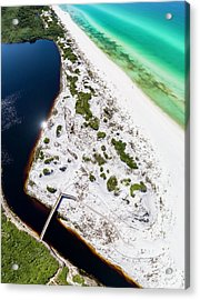 Camp Creek Lake On The Gulf Aerial Acrylic Print