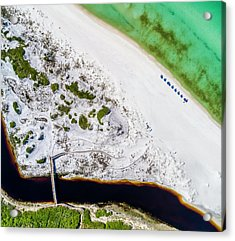 Camp Creek Lake Outfall Aerial Acrylic Print