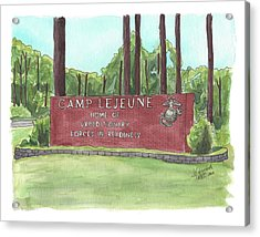 Camp Lejeune Welcome Acrylic Print