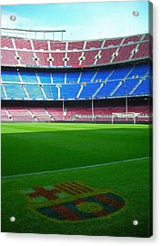 Camp Nou - Barcelona Acrylic Print by Juergen Weiss