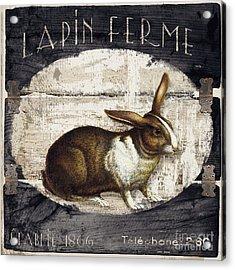 Campagne Iv Rabbit Farm Acrylic Print