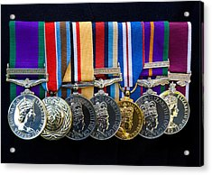 Campaign Medals Acrylic Print by Peter Jarvis