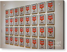 Acrylic Print featuring the photograph Campbell Soup By Warhol by Patricia Hofmeester