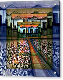 Campbellfield Factories 2 Acrylic Print by Joan Kamaru
