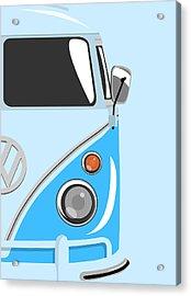 Camper Blue 2 Acrylic Print by Michael Tompsett