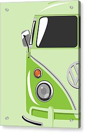 Camper Green Acrylic Print by Michael Tompsett