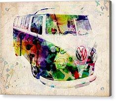 Camper Van Urban Art Acrylic Print by Michael Tompsett