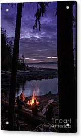 Campfire @ Orca Camp Acrylic Print by Dragonfly 'n' Brambles Imagery