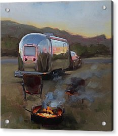 Campfire At Palo Duro Acrylic Print