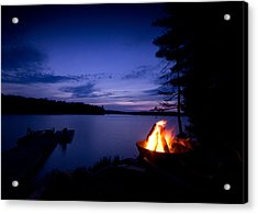Campfire Acrylic Print by Cale Best
