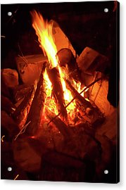 Campfire Acrylic Print by Turtle Caps