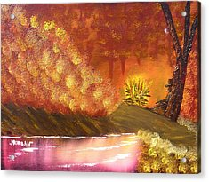 Campfire Acrylic Print by Sheldon Morgan