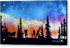 Campfire Tales Acrylic Print by Ed Moore