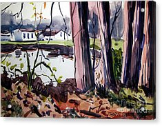 Campground Across The Eel Acrylic Print by Charlie Spear