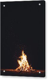 Camping Fire Acrylic Print by Happy Home Artistry