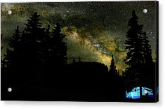 Camping Under The Milky Way 2 Acrylic Print