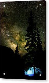 Camping Under The Milky Way Acrylic Print