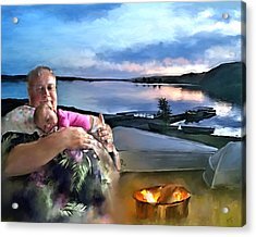 Camping With Grandpa Acrylic Print