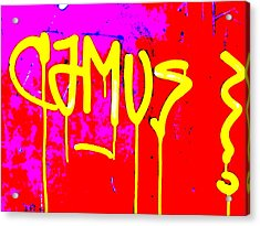 Camus ... Graffitied  Acrylic Print by Funkpix Photo Hunter
