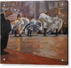 Can Can In The Moulin Rouge Paris Acrylic Print