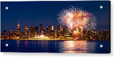Canada Day 2015 In Vancouver Acrylic Print by Alexis Birkill