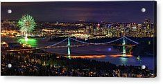 Acrylic Print featuring the photograph Canada Day Celebration In Vancouver City by Pierre Leclerc Photography