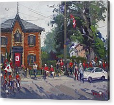Canada Day Parade At Glen Williams  On Acrylic Print