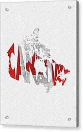 Canada Typographic Map Flag Acrylic Print