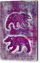 Canadian Bears Pink  Acrylic Print