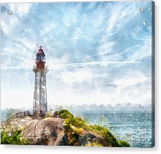 Canadian Lighthouse Acrylic Print by Shirley Stalter
