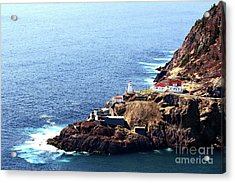 Canadian National Historical Site Fort Amherst And Wwii Bunkers Acrylic Print