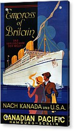 Canadian Pacific - Hamburg-berlin - Empress Of Britain - Retro Travel Poster - Vintage Poster Acrylic Print