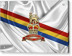 Canadian Provost Corps - C Pro C Badge Over Unit Colours Acrylic Print by Serge Averbukh