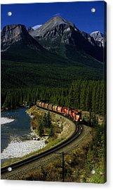 Canadian Railroad Acrylic Print by Susan  Benson
