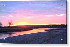 Canadian River Sunset Acrylic Print