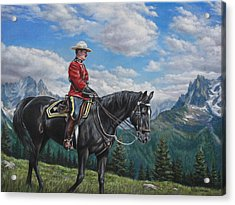 Acrylic Print featuring the painting Canadian Majesty by Kim Lockman