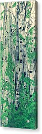 Acrylic Print featuring the painting Canadian White  Poplar by Sharon Duguay