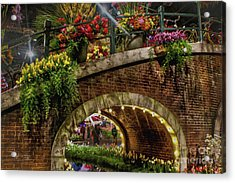 Canal And Bridge  Acrylic Print