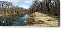 Canal And Towpath - Great Falls Park - Maryland Acrylic Print by Brendan Reals
