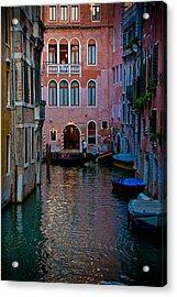 Canal At Dusk Acrylic Print