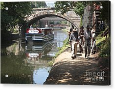 Canal Boat And Mule Team On The C And O Canal In Georgetown In Washington Dc Acrylic Print