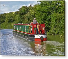 Canal Boat Acrylic Print by Terri Waters