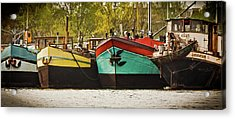 Canal Boats Acrylic Print by Jill Smith