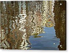 Canal House Reflections Acrylic Print by Joan Carroll