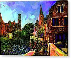 Canal In Bruges Acrylic Print