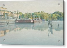 Acrylic Print featuring the photograph Canal In Pastels by Everet Regal