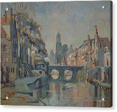 Canal In Utrecht Acrylic Print