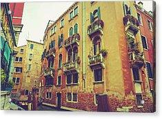 Canal In Venice, Italy Acrylic Print