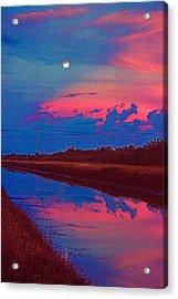 Canal Moon Acrylic Print