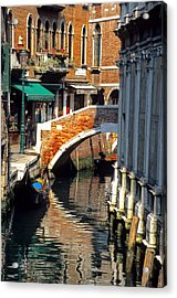 Canal Next To Church Of The Miracoli In Venice Acrylic Print by Michael Henderson